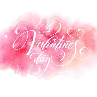 Carte de voeux saint valentin avec lettrage