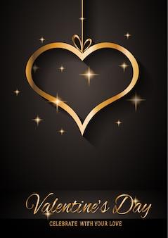 Carte de voeux saint valentin