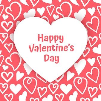 Carte De Voeux Saint Valentin Vecteur Premium