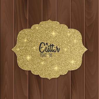 Carte De Voeux Avec Style Arabe De Paillettes D'or Vecteur Premium