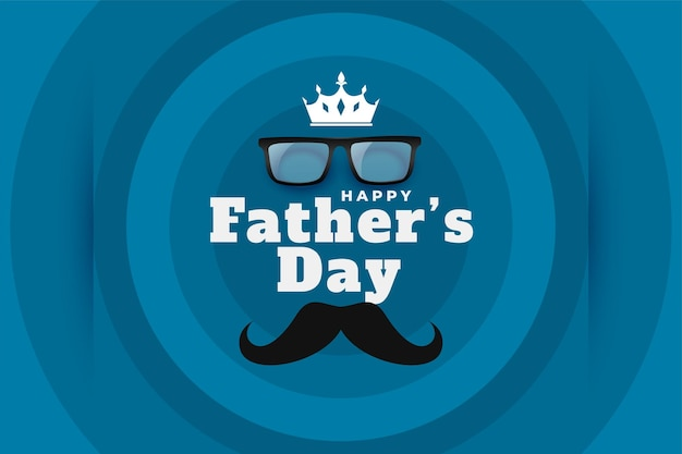 Carte de voeux de style minimal pour la fête des pères heureux