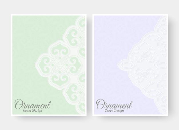 Carte de voeux de style ornement avec motif