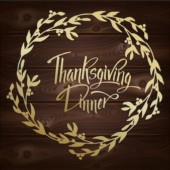 Carte de voeux thanskgiving dinner