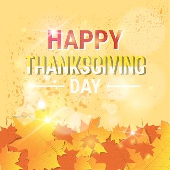 Carte de voeux traditionnelle du joyeux thanksgiving day autumn