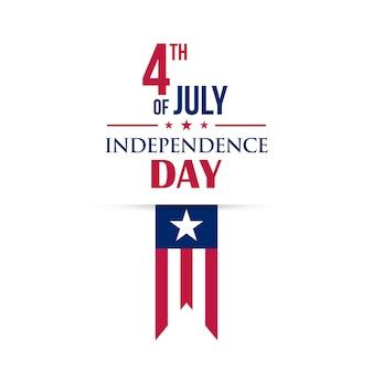 Carte de voeux de vecteur de juillet. le jour de l'indépendance.