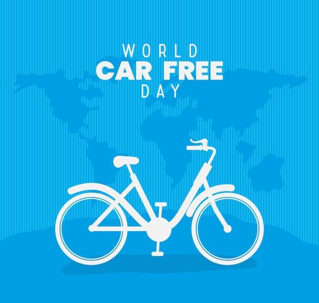 Cartel de la journée mondiale sans voiture