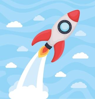 Cartel de lancement de fusée