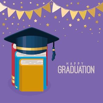 Cartel de remise des diplômes heureux