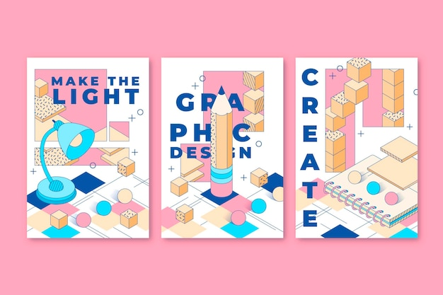 Cartes 3d linéaires esthétiques