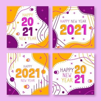 Cartes abstraites du nouvel an 2021