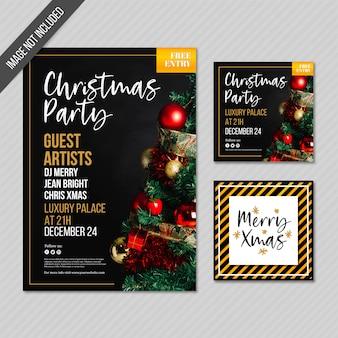 Cartes et affiche de fête de noël