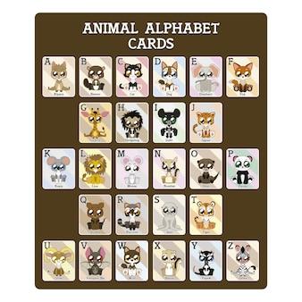Cartes d'alphabet pour animaux