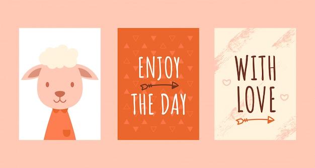 Cartes d'anniversaire avec citations, moutons mignons