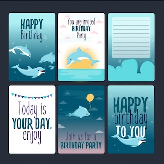Les cartes d'anniversaire collection