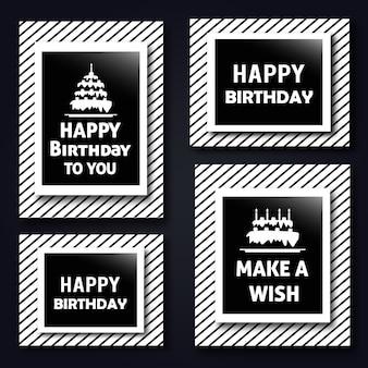 Cartes d'anniversaire de modèle de vecteur