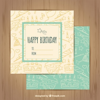 Cartes d'anniversaire sketchy