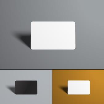 Cartes bancaires sur gris et orange
