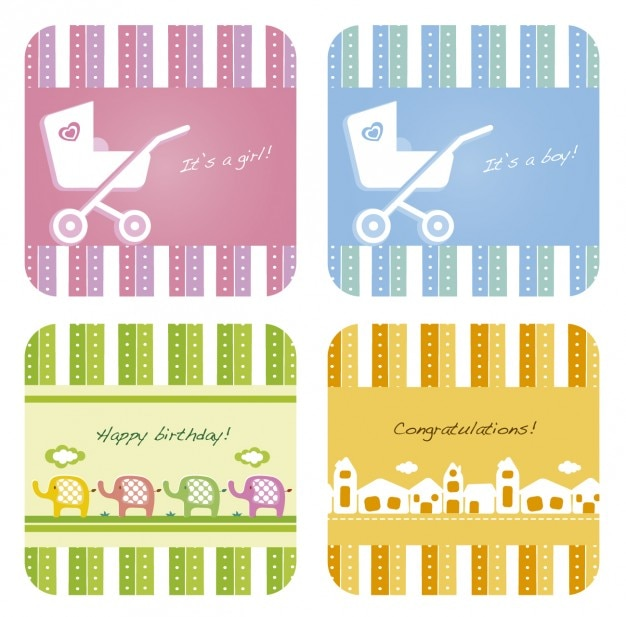 Les cartes-cadeaux collection pour le bébé