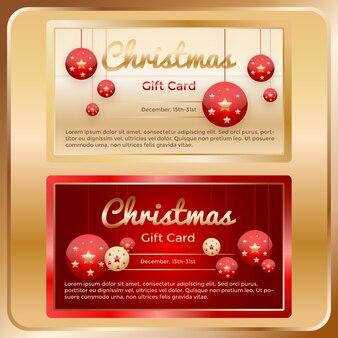 Cartes-cadeaux golden christmas