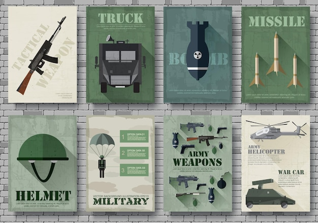 Cartes de cartes d'équipement militaire