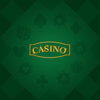 Cartes de casino et jetons sur le pont