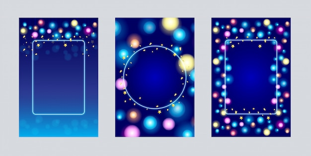 Cartes cerabration ampoule avec confettis d'or