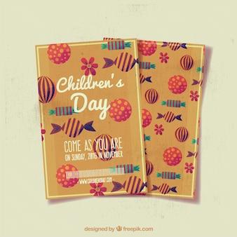 Cartes chaudes pour la journée des enfants