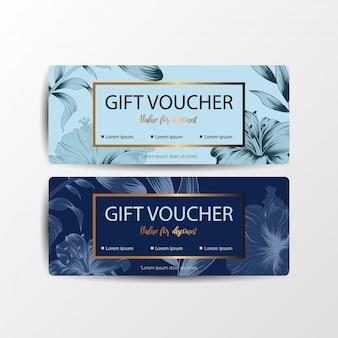 Cartes de chèques cadeaux floraux