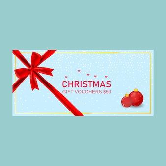 Cartes de chèques cadeaux de noël