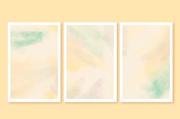 Cartes de coup de pinceau aquarelle