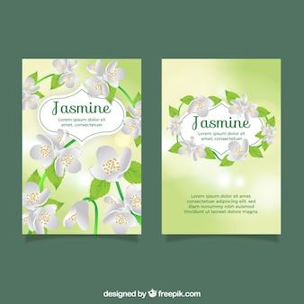 Cartes avec du jasmin