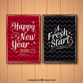 Cartes du nouvel an minimaliste 2018