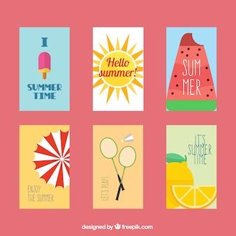Cartes d'été belle série