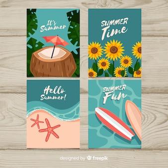 Cartes d'été plat
