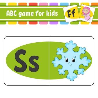 Cartes flash abc. alphabet pour les enfants. apprentissage des lettres.