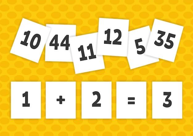 Cartes flash. apprentissage des nombres.
