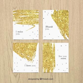 Cartes de glitter
