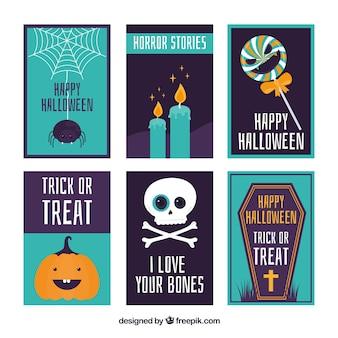 Cartes de halloween avec style amusant