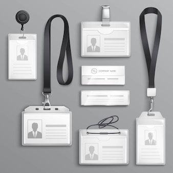 Cartes d'identification badges samples set