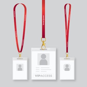 Cartes d'identité réalistes pour les affaires de l'entreprise