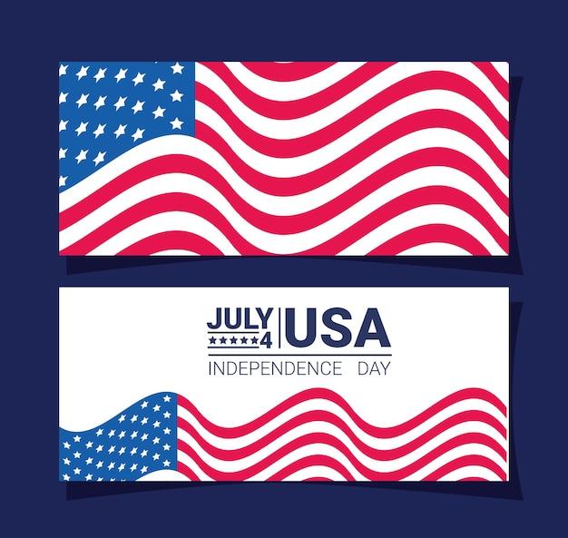 Cartes d'indépendance des états-unis