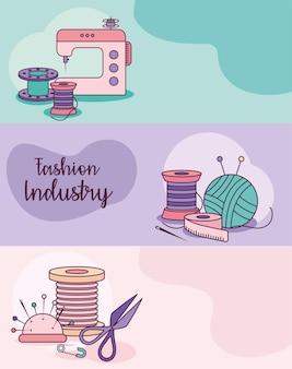 Cartes de l'industrie de la mode