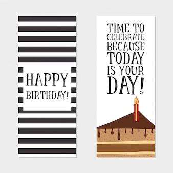 Cartes d'invitation de joyeux anniversaire