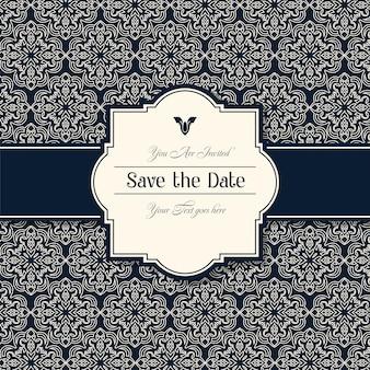 Cartes d'invitation de mariage décoratif