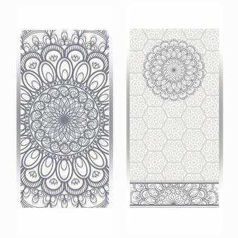 Cartes ou invitations avec motif de mandala