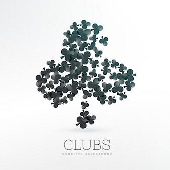 Cartes à jouer clubs formes de fond