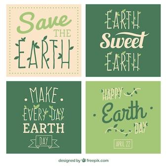Cartes de jour de la terre