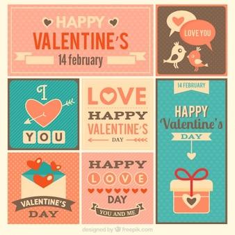 Cartes de jour de valentine vintage