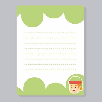 Cartes de journalisation de noël, notes