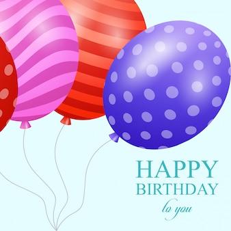 Cartes de joyeux anniversaire avec un vecteur de design élégant